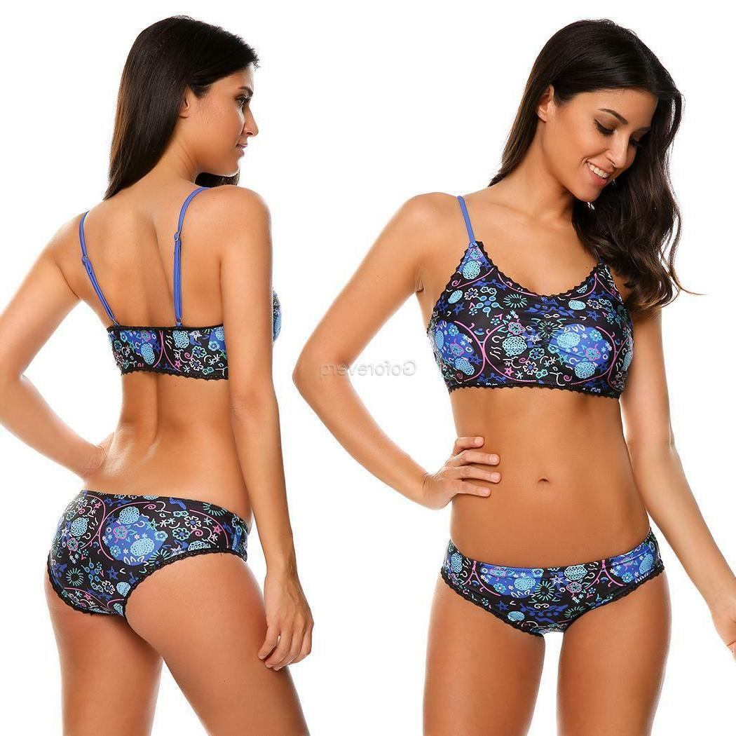 Women's Up Lace Trim 2 Piece Set GFEQ