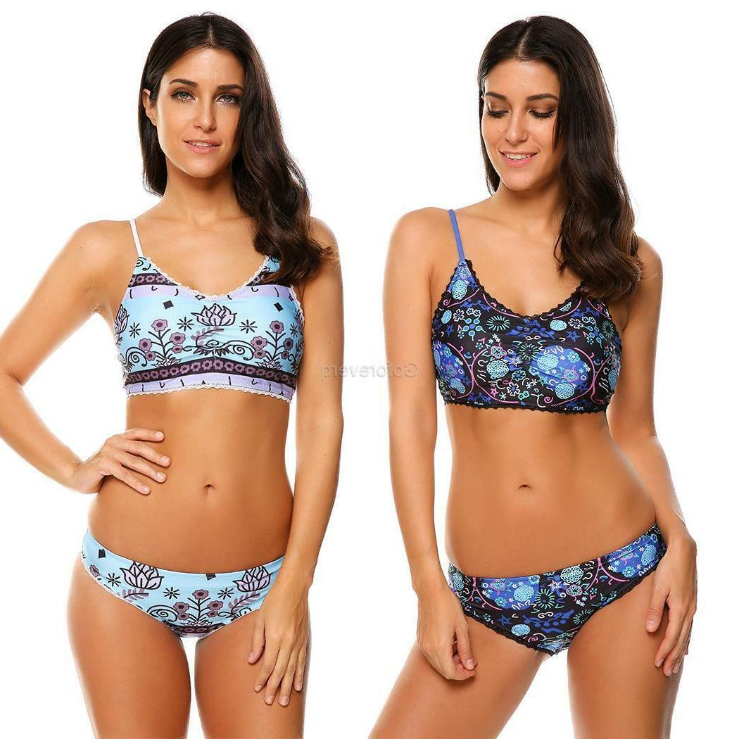 Women's Push Trim Padded Floral 2 Swimwear GFEQ