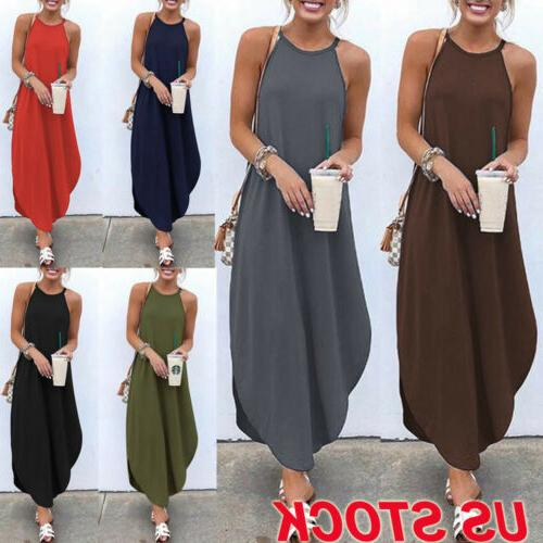 women s summer boho casual long maxi
