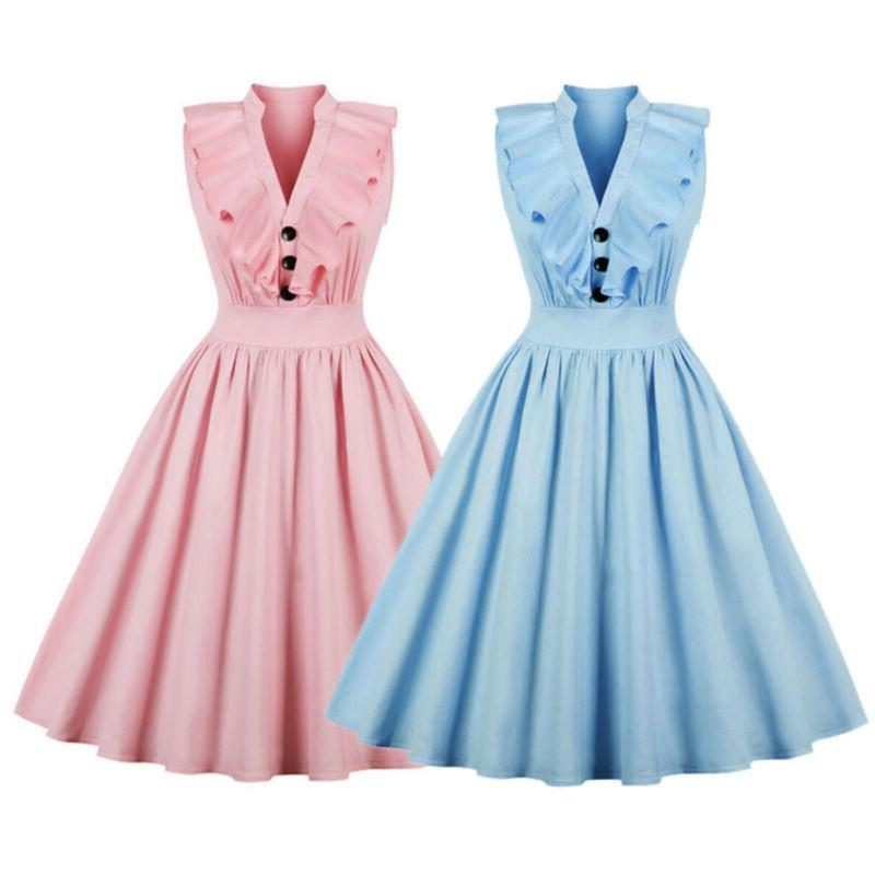 Womens Vintage Housewife Evening Party Swing