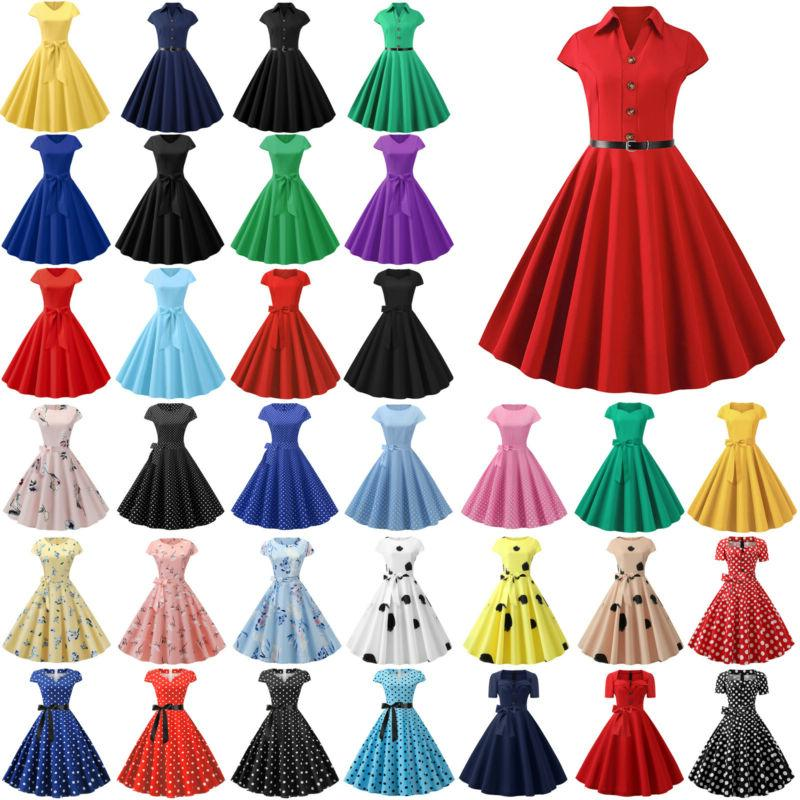 womens 50s 60s vintage rockabilly floral housewife