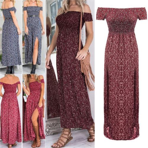 Womens Floral Maxi Summer Evening Party