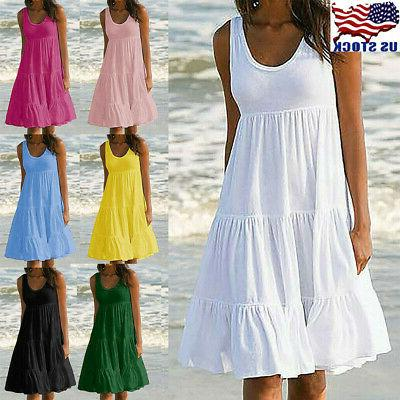 womens holiday summer solid sleeveless party beach
