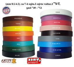 Leather Strips 3/4 inch-6 -7 oz-Use for Belts, Collars, Purs