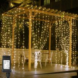 LE 306 LED Curtain Lights/8Modes Plug in Fairy String Lights