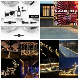 LE 33FT 240LED Rope Light Waterproof Connectable Low Voltage