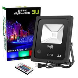 LE Outdoor Led Flood Light, IP65 Waterproof, 10W RGB, 16 Col