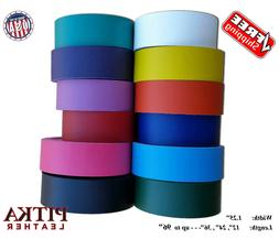Leather Strips 1.25 inch, 6 -7 oz -Belts-Guitar Straps-Colla