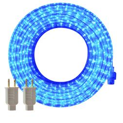 LED Rope Lights, 50ft Flat Flexible Strip Light, Blue, Water