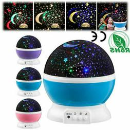 LED Rotating Projector Starry Night Lamp Star Sky Romantic P