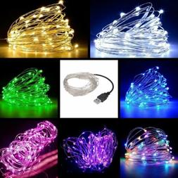 LED String Fairy Light Copper Wire Home Party Indoor Outdoor