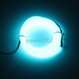 Light Blue 16ft Christmas Led EL Wire Flexible Neon Glow Car