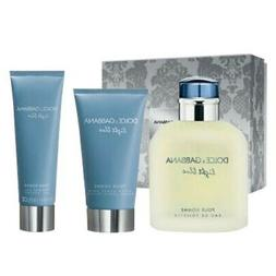 Light Blue by Dolce & Gabbana 3pc Gift Set 4.2 oz Cologne Af
