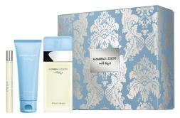 Light Blue By Dolce & Gabbana Women 3pc Set 3.3ozSpray+2.5oz