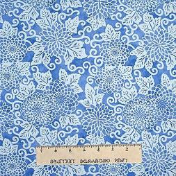 Riverwoods Fabric - Light Blue Floral - Midnight Blue Cotton