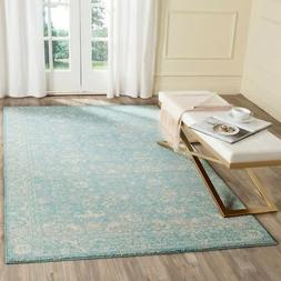 Light Blue / Ivory Safavieh Power Loomed Evoke Area Rugs - E