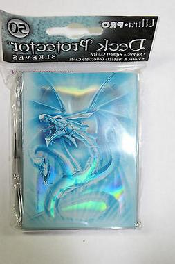 Ultra Pro Light Blue Monte Dragon STANDARD Sized Sleeves