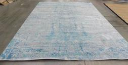 Light Blue / Multi 9' x 12' Back stain rug, reduced price 11