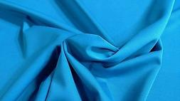 "Light Blue Poly Lycra 4 Way Stretch Fabric 60""W Sport Wear P"