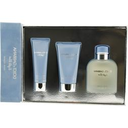 Light Blue Cologne for Men 3pc Set Eau De Toilette Spray 4.2