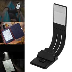 Magnetic USB Rechargeable LED Book Light Flexible Clip On Ni