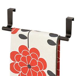 mDesign Decorative Metal Kitchen Over Cabinet Towel Bar - Ha