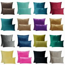 PILLOW COVER Soft Microfiber Velvet Premium Decorative Home