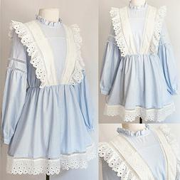 NEW Light Blue Striped White 100% Cotton Eyelet Embroidery R