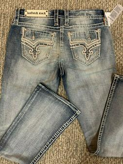 NWT Rock Revival Betty Easy Boot Cut Bling Rhinestone Jeans