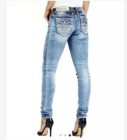 Nwt Rock Revival Light Blue Skinny Jeans Size 28 Inseam 31