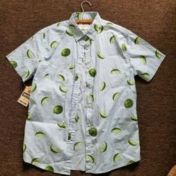 NWT Light Blue with Limes Novelty Print Button Down Shirt by