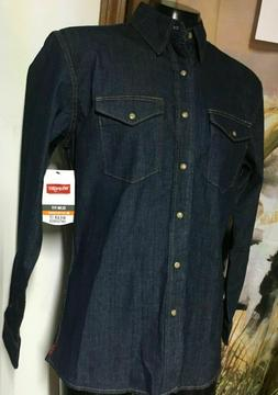 NWT new WRANGLER denim Pearl Snap WESTERN SHIRT mens S M L X