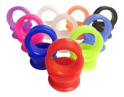 PAIR Soft Silicone Ear Tunnels Plugs - choose from 10 colors