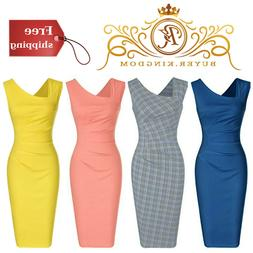 Pencil Dress Knee Length Retro 1950 s Vintage Womens Dresses