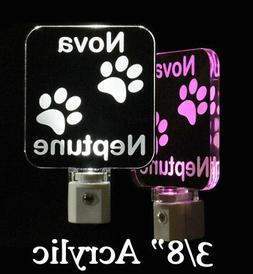 Personalized Dog and Cat Paw Night Light