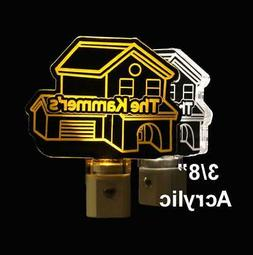 Personalized House Warming LED Night Light