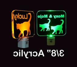 Personalized Kitty Cat LED Night Light - Animal Night Light