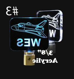 Personalized Rocket Night Light, LED, Spaceship light