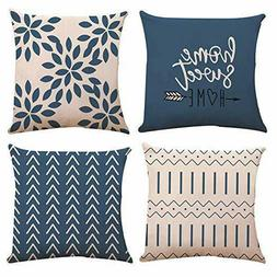 pillow covers 18x18 set of 4 modern