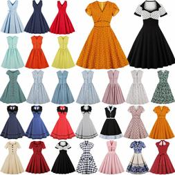 Plus Size 40s 50s Rockabilly Vintage Style Retro Womens Part