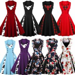 Plus Size 50s 60s Vintage Rockabilly Swing Housewife Party E