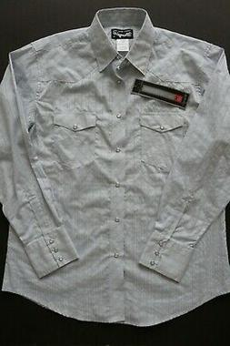 polyester cotton light blue western style shirt