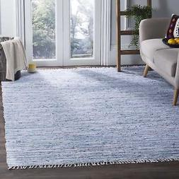 Safavieh Rag Rug Collection RAR125A Hand Woven Light Blue an