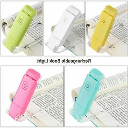 DEWENWILS Rechargeable Book Light for Reading in Bed Clip On