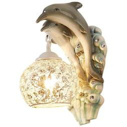 Resin Dolphin Wall Light LED Bedroom Wall Lamp Bedside Retro