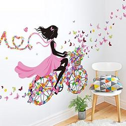SWORNA Nature Series SN049 Flower Butterfly Girl on Bicycle