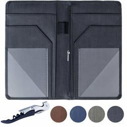 Server Book for Waitress Waiter Organizer with Zipper Pocket