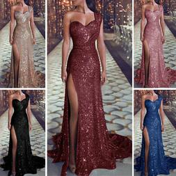 Sexy Women Wedding Cocktail Formal Prom Evening Party Long M