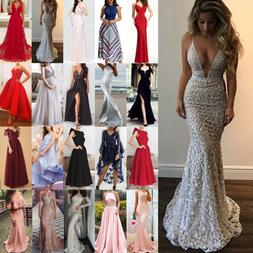 Sexy Womens Wedding Cocktail Formal Prom Evening Party Long