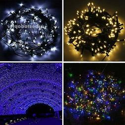 Solar Power 100/200 LED String Fairy Lights Garden Outdoor X